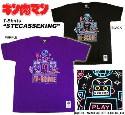 """【キン肉マン】STECASSEKING""""ステカセキングHI-SCORE"""" Tシャツ/BamBamBigelow~MUSCLE APPAREL~"""
