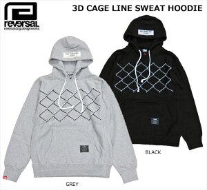 【SALE】reversal(リバーサル)/3D CAGE LINE SWEAT…