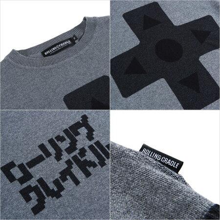 【ロリクレ】ROLLINGCRADLE(ローリングクレイドル)/16BITCROSS-KEYKNIT/セーター