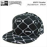NEWERA×THRASHER/9FIFTY/Thrasher・フェンスプリント(ブラック)