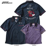 【予約】PUNKDRUNKERS(パンクドランカーズ)/武士開襟刺繍シャツ/7月入荷予定