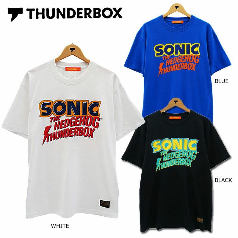 トップス, Tシャツ・カットソー SALETHUNDERBOXSONICTB CLASSIC LOGOTSONIC THE HEDGEHOG