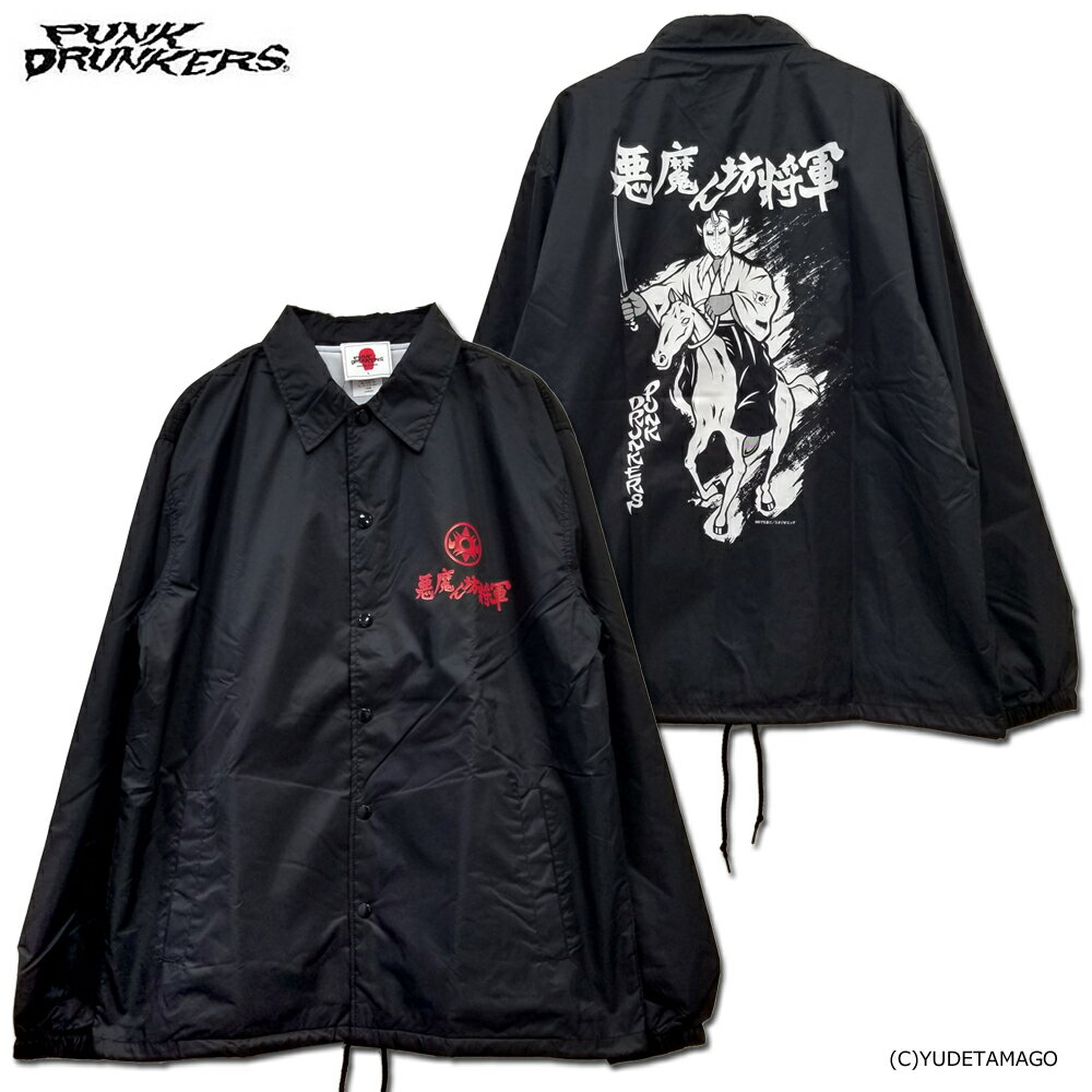 【キン肉マン】PUNK DRUNKERS(パンクドランカーズ)/PDS×キン肉マン/ 悪魔ん坊将軍コーチJKT[BLACK]/アークティーズ限定カラー