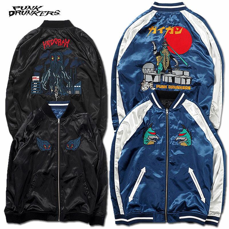 メンズファッション, コート・ジャケット PUNK DRUNKERS()PDSxGODZILLA(NAVYB LACK)