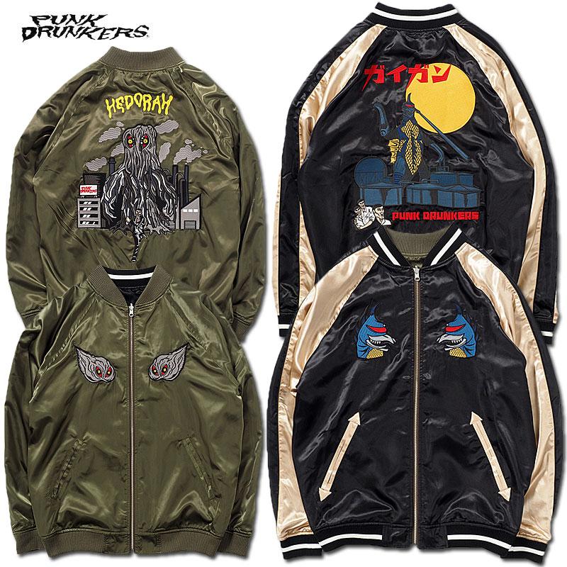 メンズファッション, コート・ジャケット PUNK DRUNKERS()PDSxGODZILLA(BLACK KHAKI)