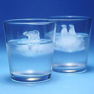 流氷にのったシロクマやペンギンの立体的なロックアイスができる製氷器かわいい製氷機 POLAR IC...