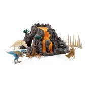 【☆ポイント☆まとめ買いで送料無料☆】Schleich(シュライヒ)大火山とティラノサウルス恐竜ビックセット42305【全商品・全在庫】【正規品】【送料無料】