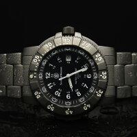 【送料無料】スミス&ウェッソン/S&WミリタリーウォッチエグゼクティブH3発光トリチウム腕時計SW357T-BSS