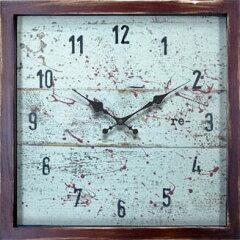 掛け時計 セイコー SEIKO 四角 レトロ ヴィンテージ風 スイープムーブメント 連続秒針 アンティ...