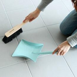 箒塵取り掃除用具BIERTAShortDustpanSetブラック/グリーン/ホワイト