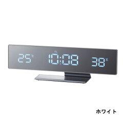 目覚まし時計 デジタル led 置き時計 卓上 湿度計 温度計 電波時計 デジタル時計 温湿度計 電波...