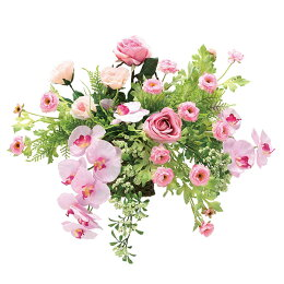 アレンジフラワー光触媒壁掛けインテリア人気おしゃれ造花ギフトお祝い花クリスティピンクフラワーギフト誕生日母の日