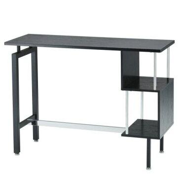 カウンターテーブル 幅120cm バーカウンター 高さ87cm 約高さ90cm 北欧 モダン ハイテーブル カフェ テーブル バーテーブル バーカウンターテーブル ブラック 収納 収納 机 デスク カウンターKENTカウンターテーブル AT-148CT 棚付きおしゃれ 家具
