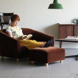 スツールオットマンチェア足置き台ローソファー椅子1人掛けソファー送料無料日本製Ballonバロンモケット足置き生地グリーン赤茶ベージュ大人カワイイカフェ部屋布張り送料無料