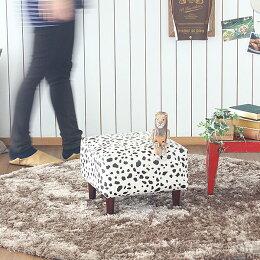 オットマンレザー牛柄合皮スツールチェアキッズソファ子供キッズソファソファーシャトーchateauチャッピーOT
