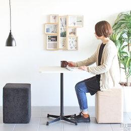 カフェテーブル机一本脚角丸タイプダイニングテーブル2人用机デスクカフェ風インテリア北欧ブラウンモダン食卓机ダイニングリビングcafe-SP604520RTD【あす楽】