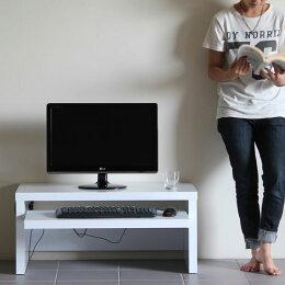 パソコンデスクロータイプローデスク完成品木製90cm幅PCデスクP-001ホワイト(白)/ブラウン(茶)90幅900幅奥行45cmスライドテーブル付き省スペースコンパクトベーシック卓上式おしゃれ座卓パソコン台カッコいい送料込机ロー送料無料arneアーネ