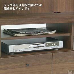 テレビ台木製ハイタイプ壁面収納壁面テレビボード棚完成品白32インチホワイトウッド42インチ42型リビングボード引き出しラック32型扉奥行45cmブラウンID-120TVおしゃれ大型高級感北欧送料無料