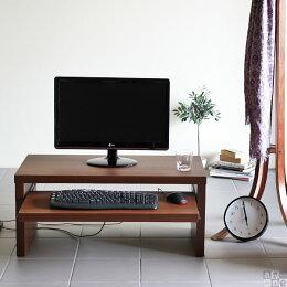 パソコンデスク北欧約奥行45cm木製ローデスク完成品90cm幅ロータイプ日本製ホワイトシンプル机PCデスク文机座卓居間パソコンデスクリビングおしゃれコンパクト和室スライドテーブル低め白ブラウン約幅90cm約高さ40cmモダン送料無料