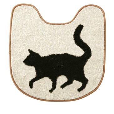 トイレ マット トイレマット アニマル モダン 北欧 トイレ用品 トイレ用マット トイレットマット 動物 かわいい 猫 ねこ ネコ おしゃれ インテリア トイレグッズ 小物 雑貨 洗える 1人暮らし 引越し祝い 新築祝い プレゼント ギフト FL-9619 Katze