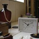 目覚まし時計 Lemnos 置き時計 レムノス 目覚まし インテリアクロック 置時計 アラームクロック めざまし時計 置き 時計 置 卓上時計 アラーム インテリア クロック おしゃれ オシャレ アナログ時計 ラセ Lacet PA06-21 ナチュラル ホワイト ブラウン タカタレムノス