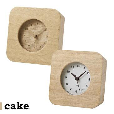 レムノス 電波時計 おしゃれ 電波 木製 電波置時計 置時計 木 静か 置き時計 時計 置時計 スイープ スイープムーブメント デザイナーズ 卓上 音がしない 連続秒針 Lemnos タカタレムノス 寝室 インテリア 雑貨 ギフト プレゼント cake HIL10-18 HIL11-12
