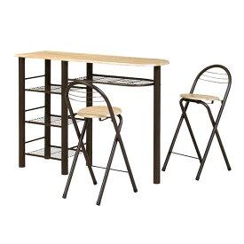ダイニングテーブルカウンターテーブル3点セットハイテーブル折りたたみチェア2脚背もたれ折りたたみ折りたたみ椅子バーカウンターテーブルキッチンコンパクトチェア椅子バーテーブル送料無料