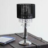 シャンデリア テーブルスタンド テーブルライト 洋風 テーブルランプ モダン レトロ アンティーク おしゃれ デスクライト 机 デスク 照明 スタンドライト 間接照明 寝室 ライト 卓上照明 ブラック 黒 クラシック テイスト インテリア照明 デザイン照明 OB-052 1T