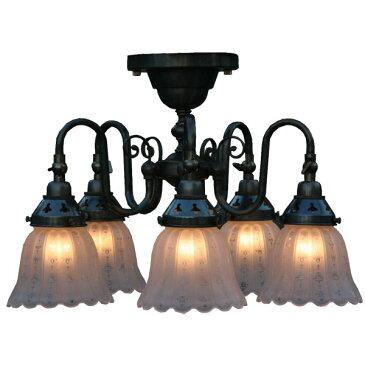 6畳 6畳用 シーリングライト アンティーク 洋風 インテリア照明 照明 おしゃれ アンティーク風 天井照明 5灯 洋風シーリングライト シーリングランプ 大人カワイイ 照明器具 引越し祝い
