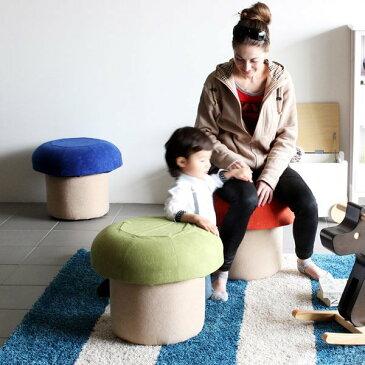 キッズソファー きのこ キノコ 椅子 スツール キッズチェアー 腰掛け 子供イス ロー 玄関用 腰掛 ミニソファー 北欧 キッズチェア 日本製 1人用 1人掛け かわいい 子供部屋 家具 カラフル コンパクト