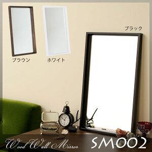 木製 壁掛け ミラー ウォールミラー 鏡 カガミ シンプル ブラウン ブラック ホワイト 玄関 レト...
