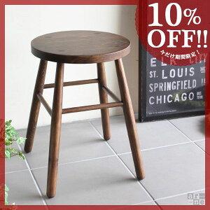 スツール アンティーク デザイン 木製 木 ブラウン ロースツール 花台 ハイスツール 腰かけ 椅...