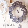 振り子時計掛け時計振り子壁掛けおしゃれギフトnumberclockナンバークロック