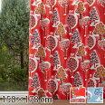 カーテンムーミン北欧柄かわいい子供部屋既成カーテン150×178森のいろいろレッド/ブルー2枚入り