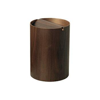 ゴミ箱 ふた付き 木製 ごみ箱 ふた くずかご 木 おしゃれ インテリア 北欧 木目 ダストbox キッチン ゴミ箱 ふた付き リビング プライウッド サイトーウッド saito wood ダストボックス WN952A 回転蓋 (L) ウォールナット 蓋付き ごみ入れ