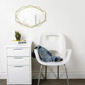 鏡ミラー壁掛け鏡ウォールミラー真鍮プリズマミラークリアumbraアンブラ送料無料