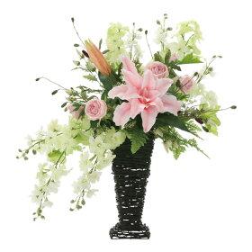 アレンジフラワー光触媒観葉植物インテリア人気おしゃれ造花ギフトお祝い花フリルカサブランカフラワーギフト誕生日母の日