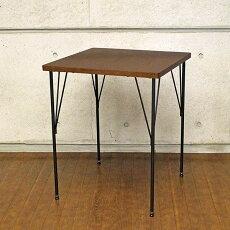 カフェテーブルコーヒーテーブル北欧正方形天板木製ダイニングテーブルアンティークカウンターテーブルハイテーブル家具レトロモダンミッドセンチュリー幅60cmBrnoCafeTable-60AT-6060ブラウン送料無料デザイン家具ダイニングテーブルアイアンカフェ
