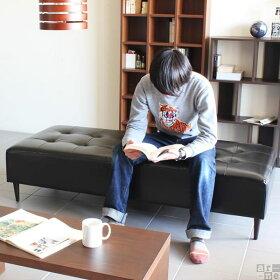 ソファーベンチベンチおしゃれ日本製バギーレクタングルBaggyRG3×7合皮ダークブラウン/アイボリー/レッドアーネオリジナル送料無料