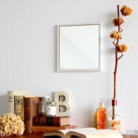 鏡ウォールミラー壁掛けミラーミニメイクアップ姿見ドレッサーメイク壁掛けミラー角型北欧アンティークスリム細枠モダン壁面壁壁面ミラースリムミラーインテリア壁面鏡壁掛け鏡薄型木製洗面リビング玄関寝室洗面所おしゃれ正方形WM2525