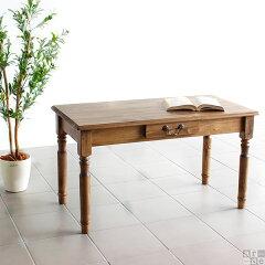 カフェテーブル アンティーク センターテーブル 引き出し カフェ テーブル 収納 リビングテー…