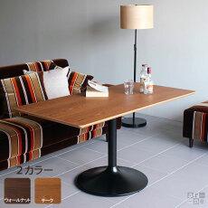 センターテーブルカフェテーブルUT4-1200Hハイタイプウォールナット/チークスクエア型アーネオリジナル【送料無料】