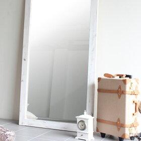 鏡全身アンティークミラー大型ウッド姿見幅90木玄関全身鏡壁面ワイド特大大型鏡スタンドミラージャンボ日本製大型ミラー全身ミラー立て掛けスタンドワイドミラー送料無料天然木レトロ北欧ダンス大きい木製STYLEJUMBOMIRROR900ホワイト白