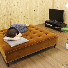 ソファーベンチベンチソファーバギーキューブBaggyCube6×6モケット生地背もたれなしソファベンチ