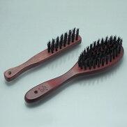 猪毛ヘアブラシかみのこまち大小セット/頭皮頭髪天然木バスブラシバスグッズブラッシングマッサージ日本製