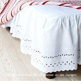 コットンレースベッドスカート