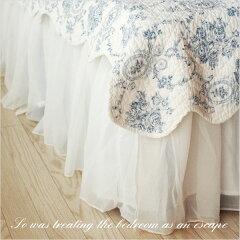 【ベッドスカート フリル45cm】ふんわりとしたシフォン素材で、お部屋がやさしい雰囲気になるベ...