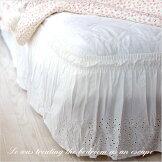 イージーフィットレースベッドスカート