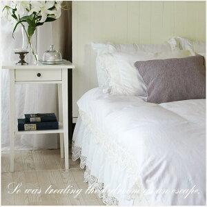 【シャビーシック shabby chic スタイル】シンプルホワイトにアンティーク風のベッドカバーセッ...