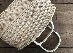 松野屋 籐コヅツ買い物かご 生成B(S) 日本の職人が手掛ける、昔ながらの味のある手編み 日本製 レトロ かご バック 買い物【送料無料】